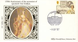 1987 BS22 Queen Victoria LTD EDITION Benham Sm Silk Cover refF559 Postmarked London SW1 Limited Edition Very good condition. Unsealed with insert card. Ideal for gift