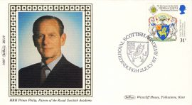 1987 BS6 LTD EDITION Benham Sm Silk Cover HRH Prince Philip refF563 Postmarked Royal Scottish Academy Edinburgh 21 July 1987 Limited Edition Very good condition. Unsealed with insert card. Ideal for gift