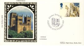 1984 BS9b CHRISTMAS DURHAM CATHEDRAL Benham Sm Silk Stamp Cover refF568 Postmarked Christian Heritage Year20 November 1984 Very good condition. Unsealed with insert card. Ideal for gift