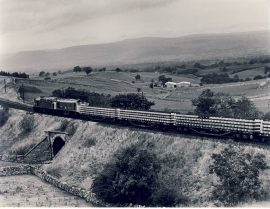 1982 BIRKETT COMMON Class 45 and Class 25 head north for Appleby Train Photo refSC1127 Measure approx 6.5 x 8.5 inches / 16cm x 21cm - an original 'W.A.Sharman' black and white photographic print pre-owned item in very good condition. Details on reverse.