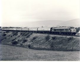 15th July 1981 Settle Carlisle Line Train Photo refSC140 Measure approx 6.5 x 8.5 inches / 16cm x 21cm - black and white photographic print pre-owned item in very good condition.