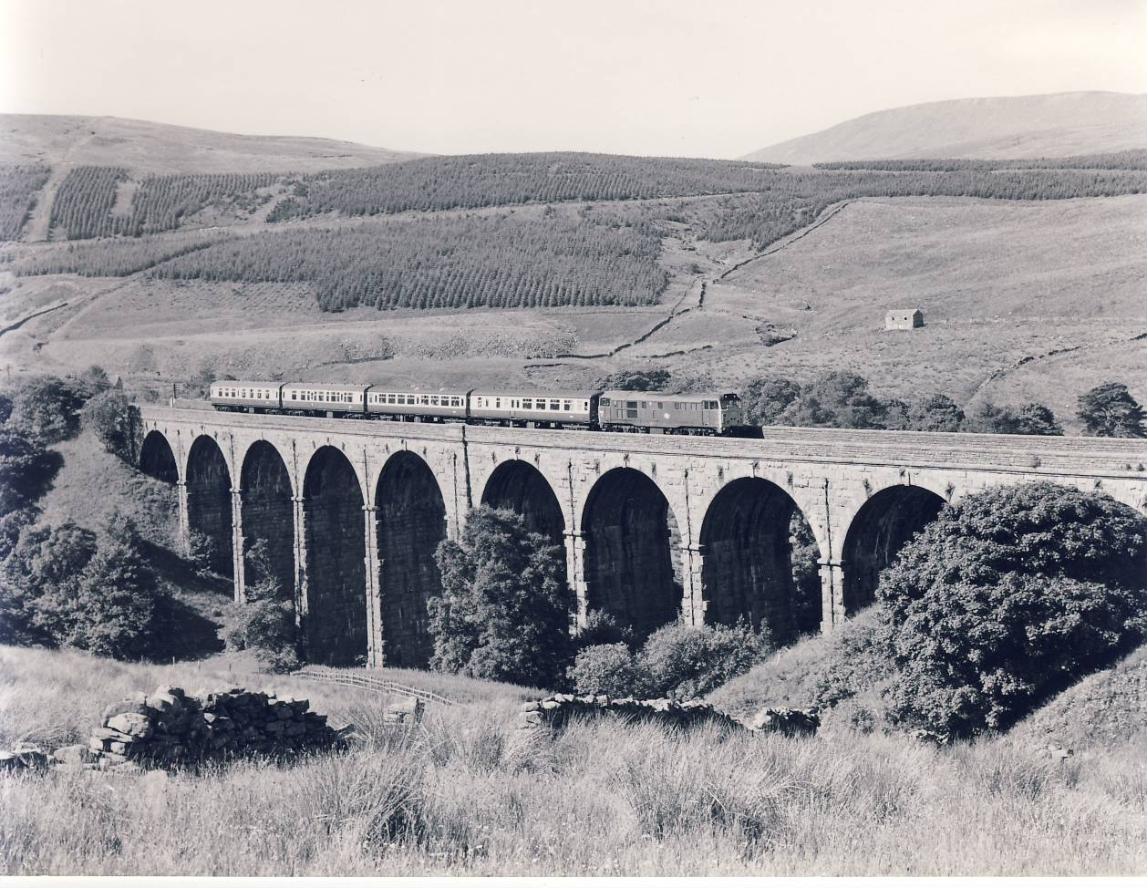 1982 DENT HEAD VIADUCT 31.188 Train Photo refSC145 Measure approx 6.5 x 8.5 inches / 16cm x 21cm - an original 'W.A.Sharman' black and white photographic print pre-owned item in very good condition. Details on reverse.