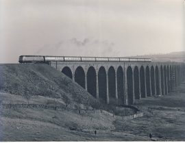 RIBBLEHEAD VIADUCT 1982 47.462 Train Photo refSC150 Measure approx 6.5 x 8.5 inches / 16cm x 21cm - an original 'W.A.Sharman' black and white photographic print pre-owned item in good condition for age. Details on reverse.