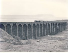 Ribbleshead Viaduct 45.063 1982 Train Photo refSC157 Measure approx 6.5 x 8.5 inches / 16cm x 21cm - an original 'W.A.Sharman' black and white photographic print pre-owned item in very good condition. Details on reverse.