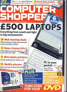 April 2008 Computer Shopper Technology magazine ref101722 a pre-owned item in very good condition.