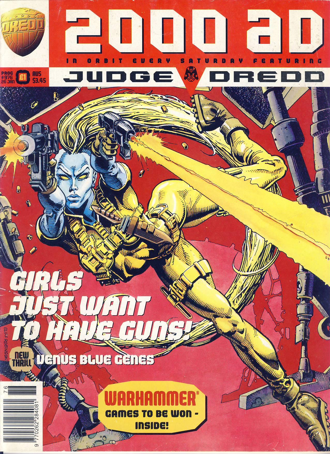 JOB LOT 2000 AD Judge Dredd - 5 comics no.976 no.975 no.988 no.603 no.580 ref101723-8  pre-owned items in well read condition. Please read full description and see photos.