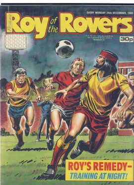 Roy of the Rovers 24th December 1988 vintage comic ref101730 Paul Stewart - SPURS - colour photo page - a pre-owned item in  well read condition.