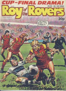 Roy of the Rovers 28th May 1988 vintage comic TERRY BUTCHER Part Five inside ref101731 a pre-owned item in well read condition.