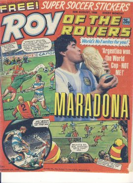 Roy of the Rovers 30th August 1986 vintage comic IAN RUSH story ref101733 a pre-owned item in well read condition.