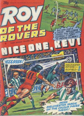 Roy of the Rovers 11th April 1987 vintage comic ref101734 a pre-owned item in well read condition.