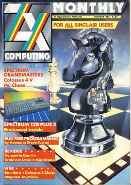 ZX Computing Monthly Sinclair Users October 1986 vintage magazine ref101738 a pre-owned item in very good condition.