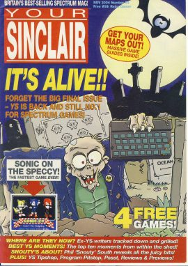 Your Sinclair November 2004 Spectrum computer magazine ref101739 a pre-owned item in very good condition.