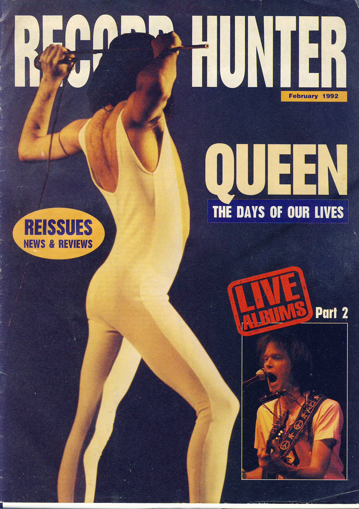 February 1992 RECORD HUNTER with QUEEN Freddy Mercury feature 24 page magazine ref101740 Reissues News & Reviews LIVE ALBUMS part 2 publication - a pre-owned item in read condition.
