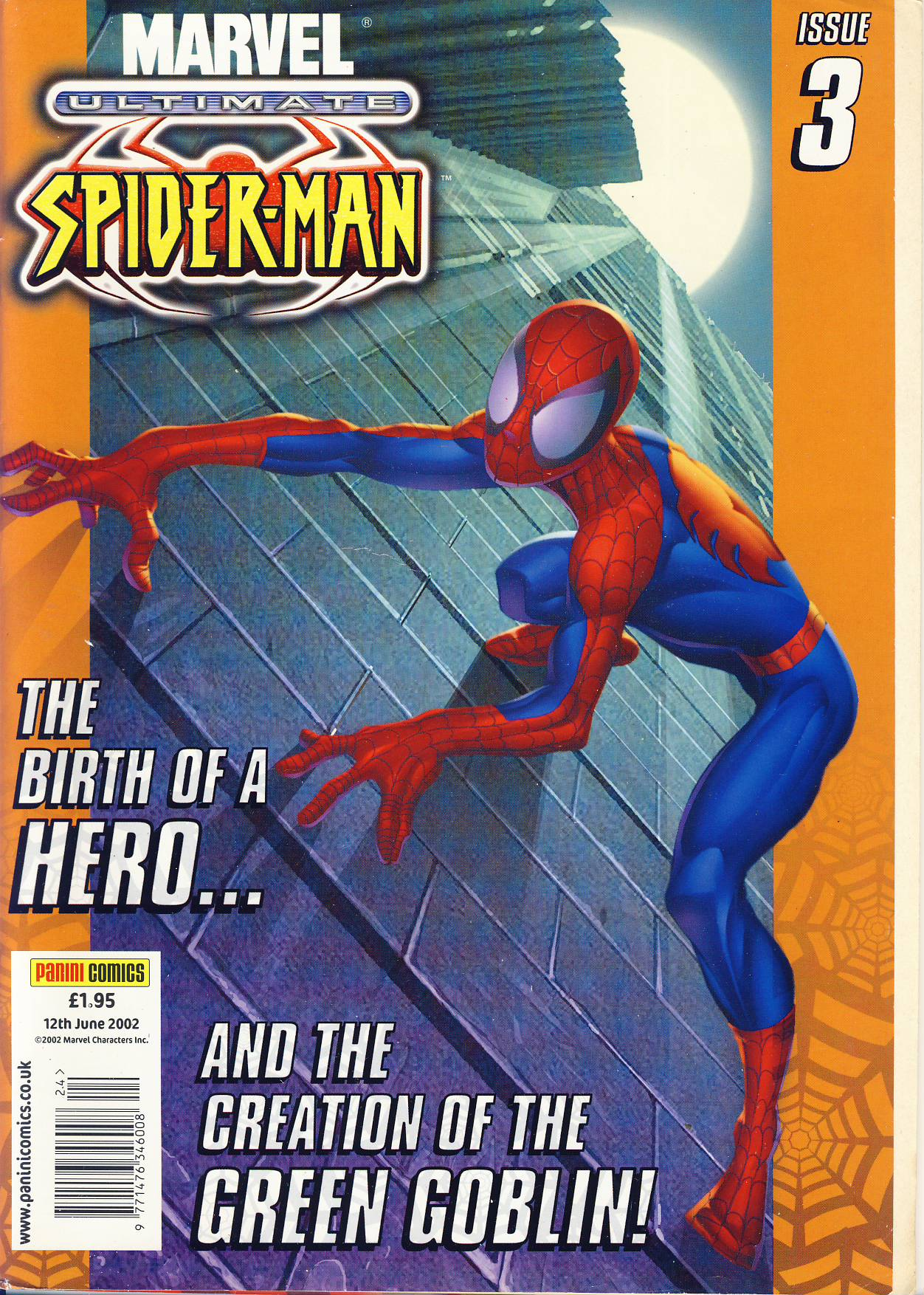 Marvel Ultimate Spider-Man Issue 3 2002 graphic novel comic ref101743 The Birth of a HERO ... And the creation of the GREEN GOBLIN! - a pre-owned item in read condition.