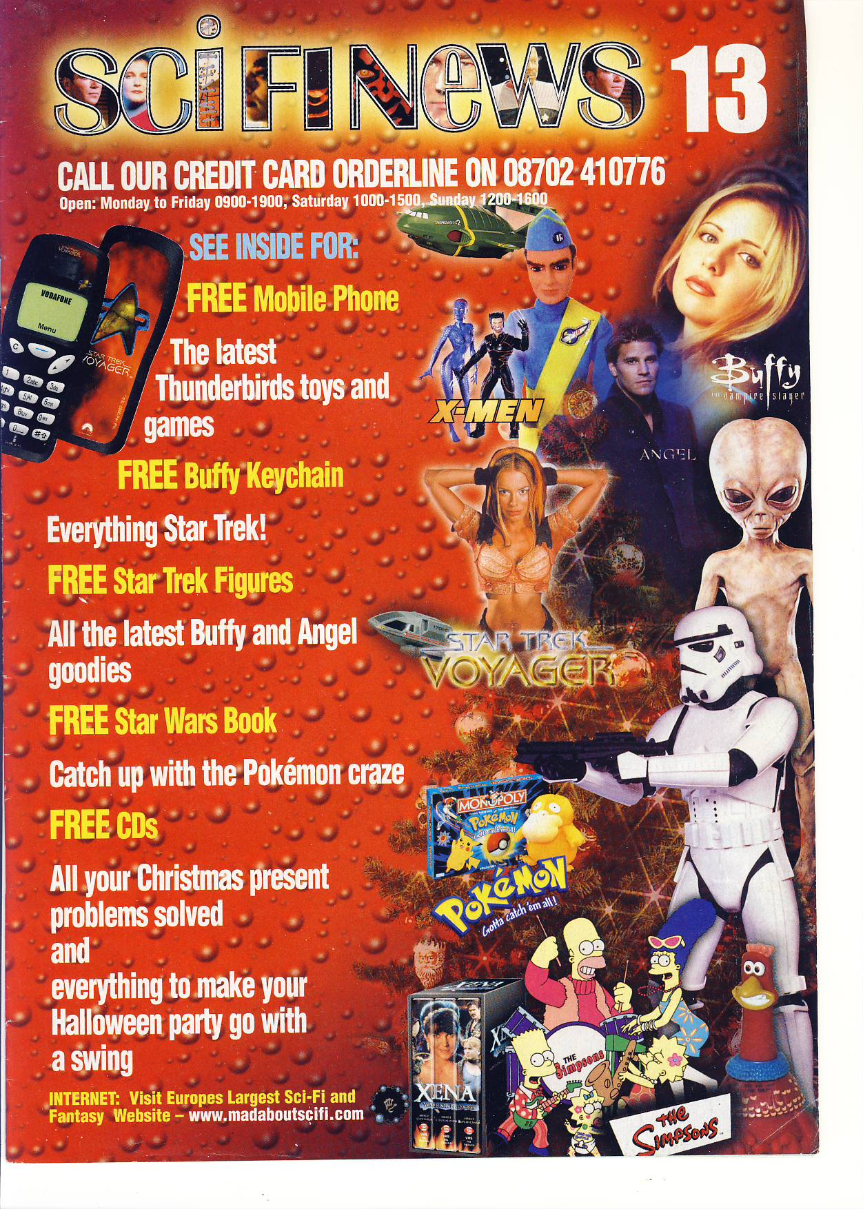 Sci Fi News issue 13 catalogue ref101747 40 pages of products and prices of Television and Science Fiction Merchandise - a pre-owned item in very good condition.