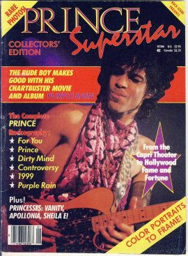 PRINCE SUPERSTAR Collectors Edition 1984 magazine ref101748 80 pages about Prince with articles and photos - a pre-owned vintage item in good condition for age.