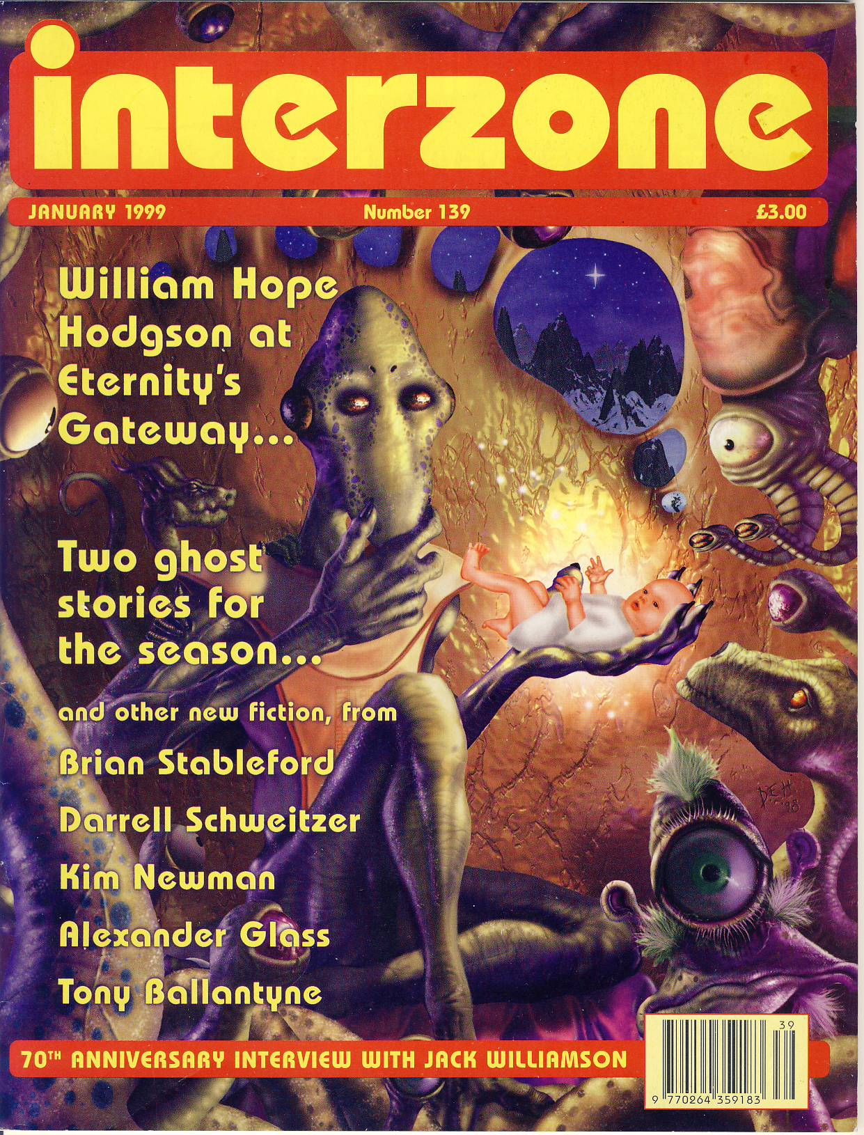 INTERZONE Science Fiction Fantasy January 1999 No 139 magazine ref101750 a pre-owned 68 page magazine in very good condition.
