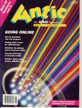 1986 Antic ATARI Resource magazine ref101751 110 pages - a pre-owned item in very good condition.