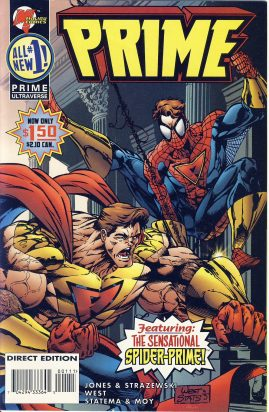 Prime Ultraverse vol.2 #1 1995 graphic comic ref101752 Malibu Comics direct edition - featuring The Sensational SPIDER-PRIME! a pre-owned item in very good condition.