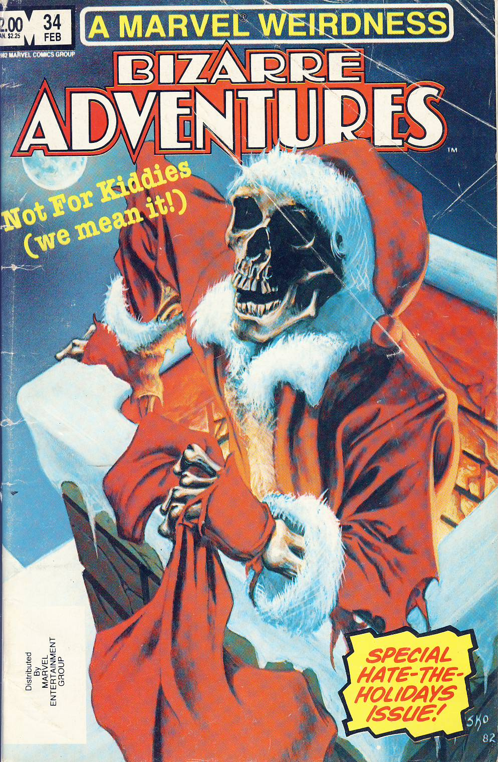 BIZARRE ADVENTURES Vol.1 #34 1983 A Marvel Weirdness ref101757 Not for Kiddies - a pre-owned item in read condition.