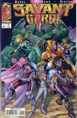 SAVANT GARDE #1 March 1997 image comic ref101758 Direct Sales - a pre-owned item in very good condition.