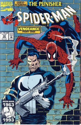 SPIDER-MAN Vengeance part one vol.1 #32 1993 Marvel Comic ref101759 Guest starring THE PUNISHER - a pre-owned item in good condition.