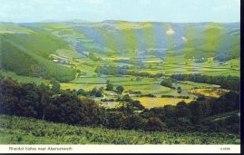Rheidol Valley near Aberystwyth A.0598 Old Postcard refP8 Pre-owned used condition.