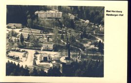 Bad Harzburg Hof Suspended Railway Cable Car Old Postcard refP8 Pre-owned used condition.
