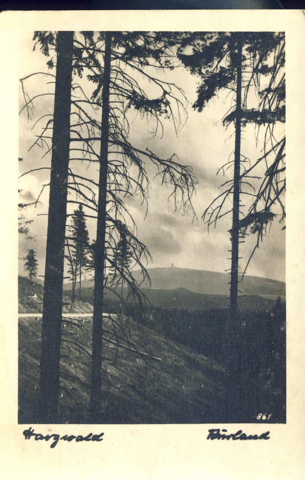 Germany 6 Kms inside the Russian Zone Bergbahnen Hergiswald Old Postcard refP8 Pre-owned used condition.