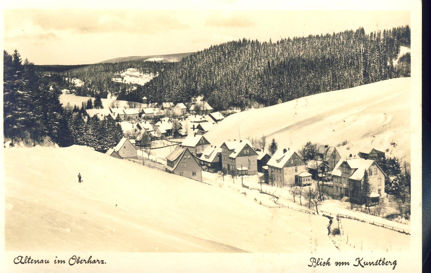 Altenau im Oberharz Blick vom Kunstberg Old Postcard refP8 Pre-owned used condition.