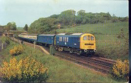 British Railways Southern Region 'Golden Arrow' Old Postcard refP8 Victoria to Dover boat train passes Sandling Kent hauled by 2552 hp electric loco.no E5004. Pre-owned unused condition.