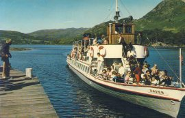 1978 M.V. Raven Glenridding Ulswater The Lakes Old Postcard refP9 Pre-owned used condition with name address and message on reverse. No stamp.