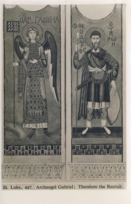 St Luke 447 Archangel Gabriel and Theodore the Recruit Old Postcard refP9 Pre-owned unused condition.