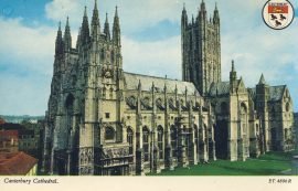 Canterbury Cathedral Old Postcard refP9 Pre-owned unused condition.
