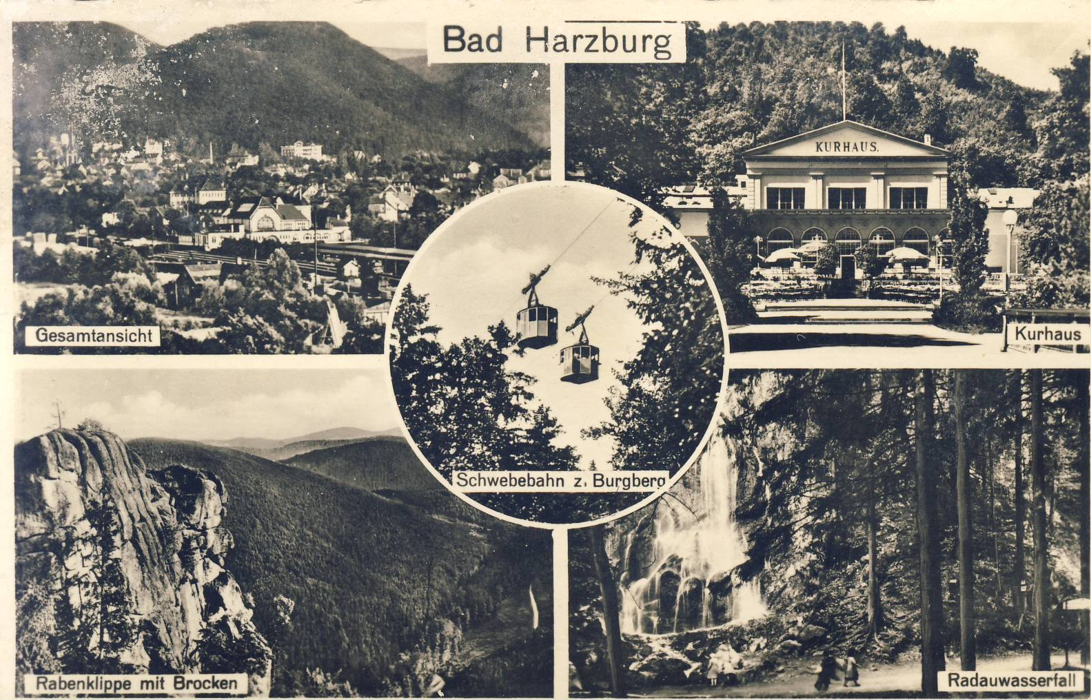 BAD BARZBURG 1949 Old Postcard refP9 Pre-owned used condition with name address and message on reverse with Deutsche Post stamps.