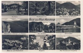 1949 Gruss aus Bad Harzburg Forces Field Post Office Postmarked Old Postcard refP9 Pre-owned used condition with name address and message on reverse with 1 & 1/2d stamp.