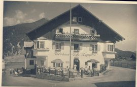 1949 Weinhaus Cafe Zugspitze Old Photo postcard refP9 Pre-owned used condition with name address and message on reverse with stamps.
