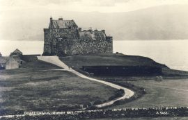 DUART CASTLE ISLE OF MULL Old Real Photo Valentine's Postcard refP9 1960s Craignure Island postmark. Pre-owned used condition with name address and message on reverse with stamp.