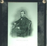 1861 Portrait taken in Aberdeen VINTAGE GLASS LANTERN SLIDE