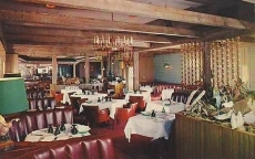 1960 The Wild Goose Restaurant Los Angeles POSTCARD b3 PRAY FOR PEACE postmark