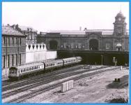 1988 NOTTINGHAM Station A D.M.U. Arrives Sharman Train Photo ref042