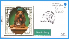1996 BS7 LTD EDITION Benham sm silk cover GREETINGS Dog with pint and a short