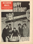 November 1961 RECORD MAIL 21st Birthday CLIFF RICHARD Vintage Newspaper refS4
