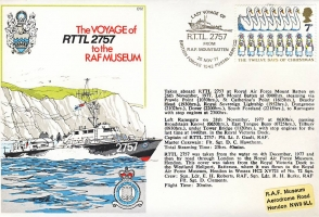 Rescue Target Towing Launch RTTL 2757 RAF Mountbatten Last Voyage 1977 stamp cover BFPO 1542 refF163