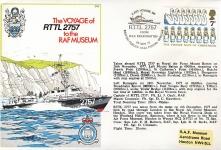 1977 Last Voyage of RTTL RAF Mount Batten 2757 carried aboard stamp cover 1542 BFPO refF164