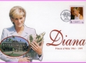 South Georgia Diana Princess of Wales 1998 Kensington Palace stamp cover refDA2