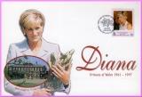South Georgia Diana Princess of Wales 1998 Kensington Palace stamp cover refDA2