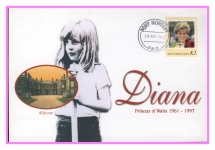 1998 PNG Althorp Diana Princess of Wales commemorative stamp cover refPortMoresby