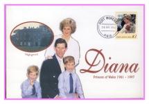 1998 PNG Highgrove Diana Princess of Wales commemorative stamp cover refPortMoresby