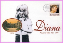Diana Princess of Wales 31 March 1998 British Virgin Isles stamp cover ALTHORP refDA8